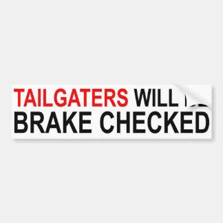 Tailgaters será freno comprobado pegatina para coche