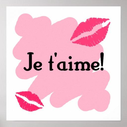 ¡T'aime de Je! - Francés te amo Posters