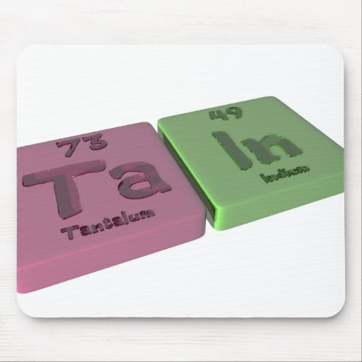 Tain como tantalio de TA y en indio Tapete De Ratón