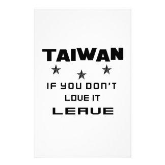 Taiwán si usted no lo ama, se va  papeleria de diseño