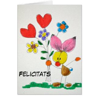 """Tajeta""""Felicitats"""". Tarjeta De Felicitación"""