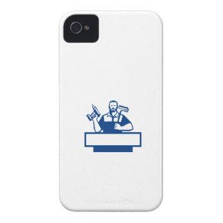 Taladro sin cuerda barbudo Paintroller de la Carcasa Para iPhone 4