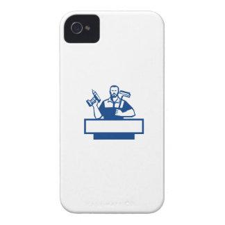 Taladro sin cuerda barbudo Paintroller de la Carcasa Para iPhone 4 De Case-Mate
