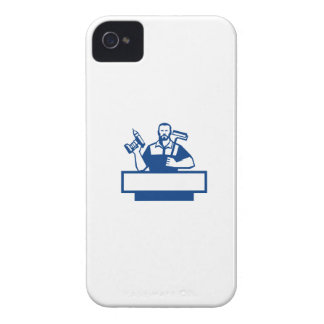 Taladro sin cuerda barbudo Paintroller de la Funda Para iPhone 4 De Case-Mate