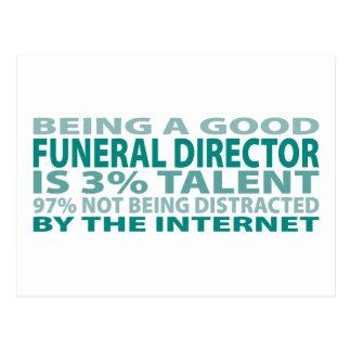Talento del director de funeraria el 3 tarjeta postal