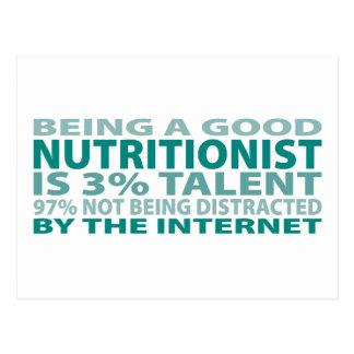 Talento del nutricionista el 3% tarjetas postales