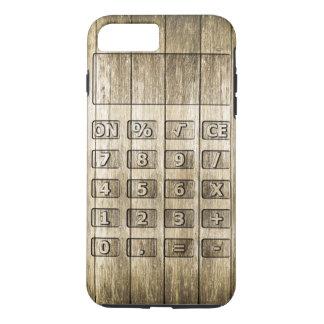Talla de madera (calculadora) funda para iPhone 8 plus/7 plus