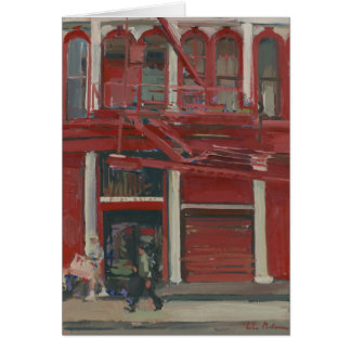 Taller de pintura de la perla Manhattan Tarjeta De Felicitación