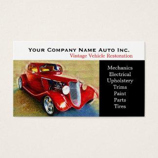 Taller de reparaciones del coche viejo - tarjeta de negocios