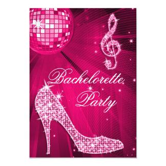 Talones Bachelorette de la bola de discoteca y de Invitación 12,7 X 17,8 Cm