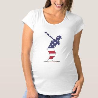 Talud - bandera americana camiseta de premamá