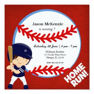 Talud del béisbol invitación 13,3 cm x 13,3cm
