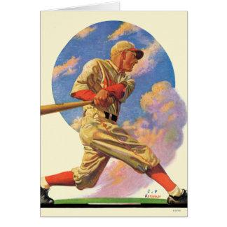 Talud del béisbol tarjeta pequeña