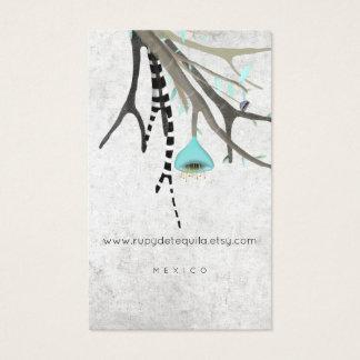 Tamaño australiano y japonés del árbol lindo de tarjeta de negocios