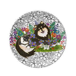 Tamaño finlandés de la placa 2 del arte de la plato de porcelana