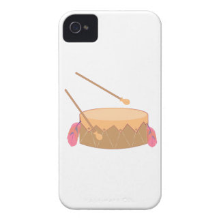 Tambor emplumado iPhone 4 Case-Mate protectores
