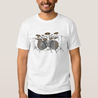 Tambores: Batería blanca: modelo 3D: Camisas