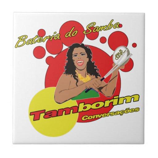 Tamborim Batucada de Samba Tejas Cerámicas