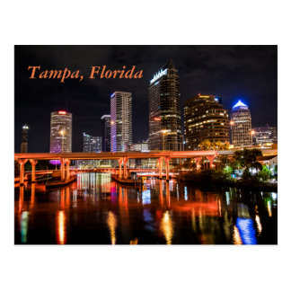 Tampa, la Florida, ciudad enciende horizonte por Postal