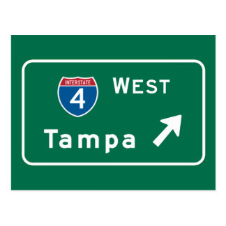 Tampa, señal de tráfico de FL Postal