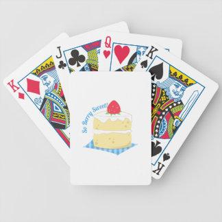 Tan dulce de la baya baraja cartas de poker