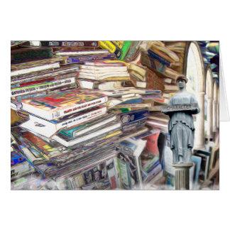 Tan muchos libros a leer tarjeta de felicitación