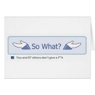 ¿Tan qué? (Botón de Facebook) Tarjeta De Felicitación