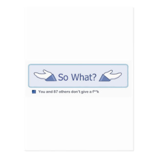 ¿Tan qué? (Botón de Facebook) Postal