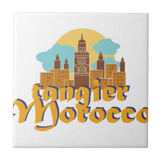 Tánger Marruecos Azulejo Cuadrado Pequeño