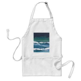 Tango de la decoración de la playa de las olas oce delantales