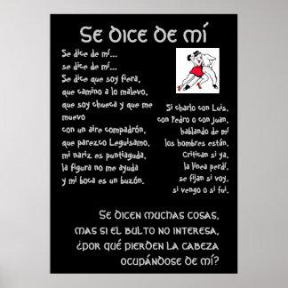 Tango de mi Lyrics de los dados del SE Póster