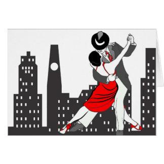Tango urbano tarjeta de felicitación