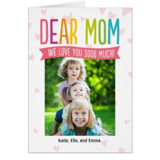 Tanto tarjeta de la foto del día de madres del