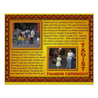 Taoist chino de la religión que nombra ceremonia póster