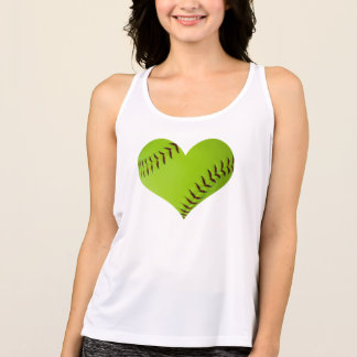 tapa del tanque en forma de corazón del softball camiseta de tirantes