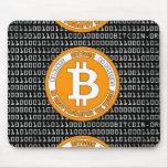 Tapete negro Bitcoin - M1b Tapete De Ratones