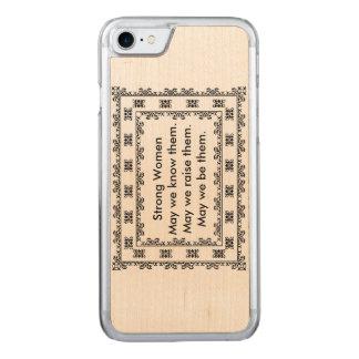 Tapetito del cordón con el texto con respecto a funda para iPhone 7 de carved