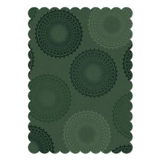 Tapetito verde del cordón del camuflaje invitación 12,7 x 17,8 cm