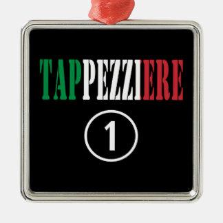 Tapiceros italianos: Uno de Tappezziere Numero Adorno Cuadrado Plateado