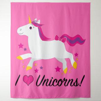 Tapiz ¡Amo unicornios!
