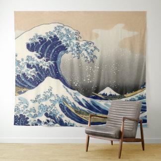 Tapiz Arte del vintage la gran onda de Kanagawa