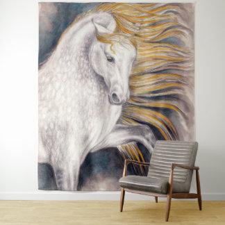 Tapiz Arte equino de la acuarela del caballo de Sun