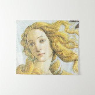 Tapiz Cara del detalle de la pintura de Venus Botticelli