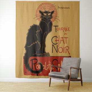 Tapiz Gato negro de Art Nouveau Le Chat Noir del vintage