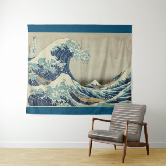 Tapiz Gran onda de Kanagawa de Hokusai GalleryHD