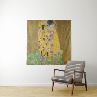 Tapiz Gustavo Klimt el vintage de GalleryHD del beso