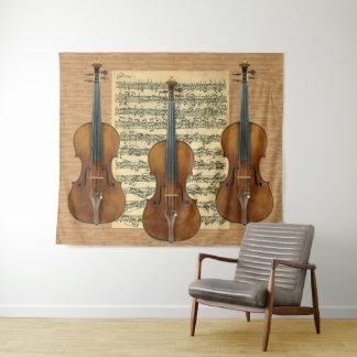Tapiz Manuscrito de Bach Chaconne del trío del violín de