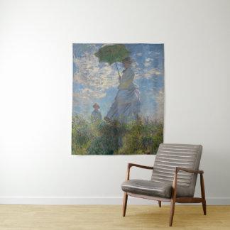 Tapiz Mujer con un parasol por el arte de Claude Monet