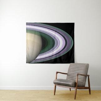 Tapiz NASA hermosa de los anillos del planeta de Saturn