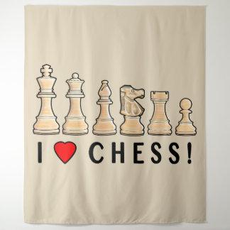 Tapiz Pedazos de ajedrez: ¡Amo ajedrez!